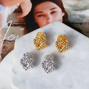 Tory Burch Quadrilateral Surround Hollow Earrings